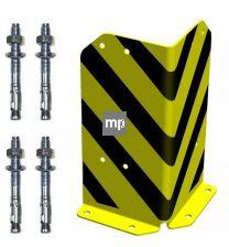 Hoekbeschermer MP 400x200x200mm hxbxd geel/zwart