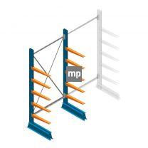 Draagarmstelling MP Enkelzijdig 2000x1000x500mm (hxbxd) 5 niveaus 150kg