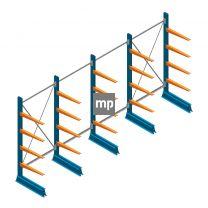 Voordeelrij MP Draagarmstelling Enkelzijdig 2000x4100x500mm (hxbxd) 4 niveaus 150kg