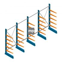 Voordeelrij MP Draagarmstelling Enkelzijdig 2000x4100x500mm (hxbxd) 5 niveaus 150kg