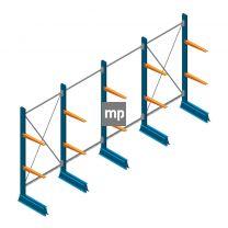 Voordeelrij MP Draagarmstelling Enkelzijdig 2000x5100x500mm (hxbxd) 2 niveaus 150kg