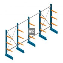 Voordeelrij MP Draagarmstelling Enkelzijdig 2000x5100x500mm (hxbxd) 3 niveaus 150kg
