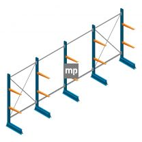 Voordeelrij MP Draagarmstelling Enkelzijdig 2000x4100x600mm (hxbxd) 2 niveaus 150kg