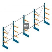 Voordeelrij MP Draagarmstelling Enkelzijdig 2000x4100x600mm (hxbxd) 3 niveaus 150kg