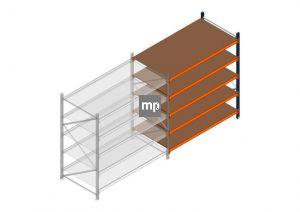Aanbouwsectie MP 2000x1850x1000mm hxbxd 5 niveaus Metaal/Hout RAL2004/5003/Verzinkt 400kg
