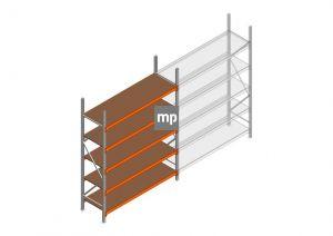 Beginsectie MP 2500x1850x600mm hxbxd 5 niveaus Metaal/Hout RAL2004/Verzinkt 400kg