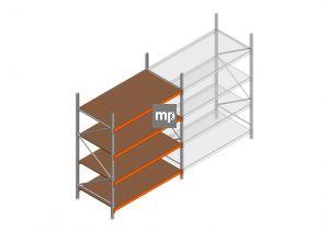 Grootvakstelling MP 2500x1850x1000mm hxbxd 4 niveaus Metaal/Hout RAL2004/Verzinkt 400kg