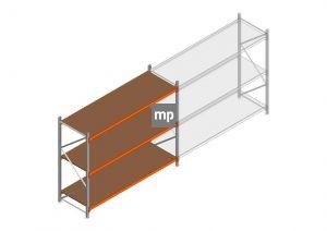 Beginsectie MP 2000x2400x800mm hxbxd 3 niveaus Metaal/Hout RAL2004/Verzinkt 265kg