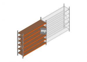 Beginsectie MP 2250x2400x600mm hxbxd 6 niveaus Metaal/Hout RAL2004/Verzinkt 265kg