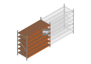 Grootvakstelling MP 2250x2400x1000mm hxbxd 6 niveaus Metaal/Hout RAL2004/Verzinkt 265kg