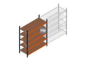 Beginsectie MP 2250x1850x800mm hxbxd 5 niveaus Metaal/Hout RAL2004/5003/Verzinkt 400kg