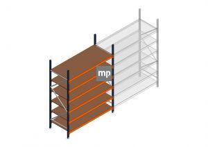 Grootvakstelling MP 2500x1850x800mm hxbxd 6 niveaus Metaal/Hout RAL2004/5003/Verzinkt 400kg