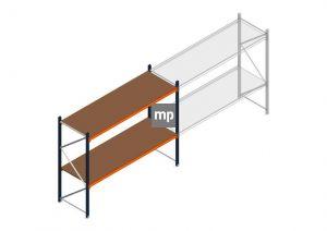 Beginsectie MP 2000x2400x800mm hxbxd 2 niveaus Metaal/Hout RAL2004/5003/Verzinkt 265kg
