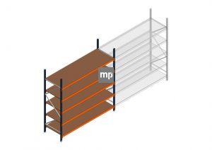 Beginsectie MP 2500x2400x800mm hxbxd 5 niveaus Metaal/Hout RAL2004/5003/Verzinkt 265kg