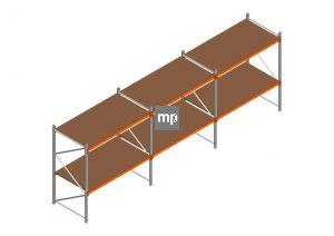 Voordeelrij MP Grootvakstelling 2000x5750x1000 hxbxd 2 niveaus Metaal/Hout RAL2004/Verzinkt 400kg