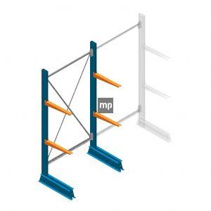 Draagarmstelling MP Enkelzijdig 2000x1000x500mm (hxbxd) 2 niveaus 150kg