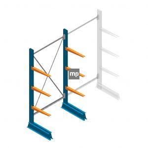 Draagarmstelling MP Enkelzijdig 2000x1000x500mm (hxbxd) 3 niveaus 150kg