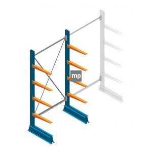 Beginsectie MP Draagarmstelling Enkelzijdig 2000x1000x500mm (hxbxd) 4 niveaus