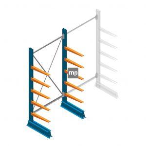 Beginsectie MP Draagarmstelling Enkelzijdig 2000x1000x500mm (hxbxd) 5 niveaus