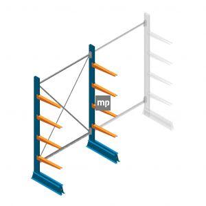 Beginsectie MP Draagarmstelling Enkelzijdig 2000x1250x500mm (hxbxd) 4 niveaus