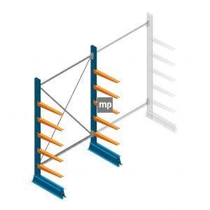 Draagarmstelling MP Enkelzijdig 2000x1250x500mm (hxbxd) 5 niveaus 150kg