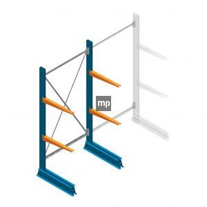 Draagarmstelling MP Enkelzijdig 2000x1000x600mm (hxbxd) 2 niveaus 150kg