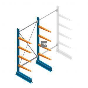 Beginsectie MP Draagarmstelling Enkelzijdig 2000x1000x600mm (hxbxd) 4 niveaus