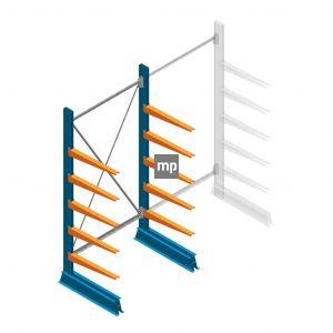 Draagarmstelling MP Enkelzijdig 2000x1000x600mm (hxbxd) 5 niveaus 150kg