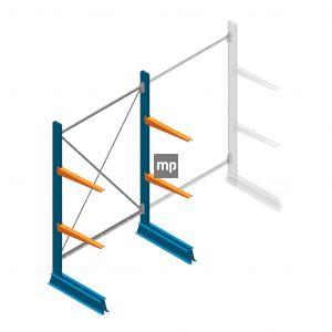 Draagarmstelling MP Enkelzijdig 2000x1250x600mm (hxbxd) 2 niveaus 150kg