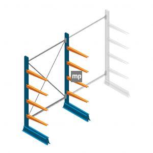 Beginsectie MP Draagarmstelling Enkelzijdig 2000x1250x600mm (hxbxd) 4 niveaus