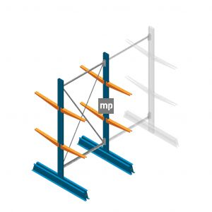 Draagarmstelling MP Enkelzijdig 2000x1250x600mm (hxbxd) 5 niveaus 150kg