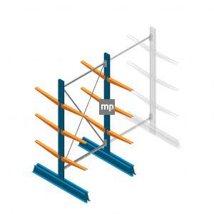 Beginsectie MP Draagarmstelling Dubbelzijdig 2000x1000x500mm (hxbxd) 4 niveaus