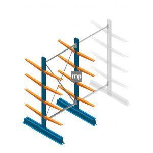 Draagarmstelling MP Dubbelzijdig 2000x1000x500mm (hxbxd) 4 niveaus 150kg