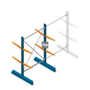 Draagarmstelling MP Dubbelzijdig 2000x1250x500mm (hxbxd) 2 niveaus 150kg