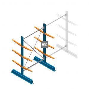 Beginsectie MP Draagarmstelling Dubbelzijdig 2000x1250x500mm (hxbxd) 3 niveaus