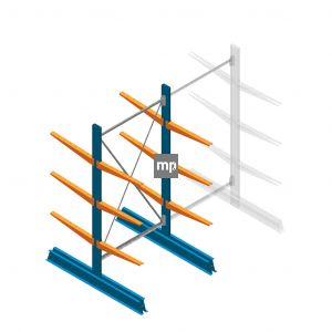 Beginsectie MP Draagarmstelling Dubbelzijdig 2000x1000x600mm (hxbxd) 3 niveaus