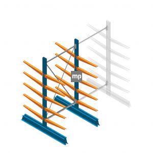 Beginsectie MP Draagarmstelling Dubbelzijdig 2000x1000x600mm (hxbxd) 5 niveaus