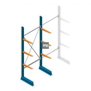 Draagarmstelling MP Enkelzijdig 2500x1000x500mm (hxbxd) 3 niveaus 150kg