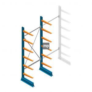 Draagarmstelling MP Enkelzijdig 2500x1000x500mm (hxbxd) 6 niveaus 150kg