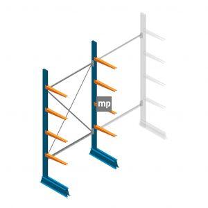 Draagarmstelling MP Enkelzijdig 2500x1250x500mm (hxbxd) 4 niveaus 150kg