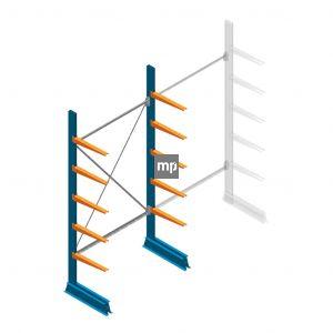 Draagarmstelling MP Enkelzijdig 2500x1250x500mm (hxbxd) 5 niveaus 150kg