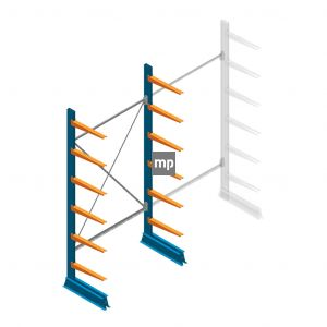 Beginsectie MP Draagarmstelling Enkelzijdig 2500x1250x500mm (hxbxd) 6 niveaus