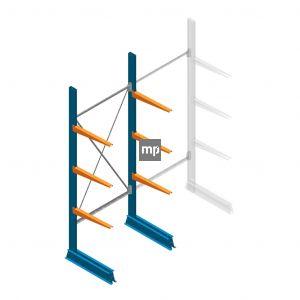 Draagarmstelling MP Enkelzijdig 2500x1000x600mm (hxbxd) 3 niveaus 150kg