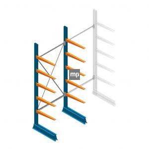 Draagarmstelling MP Enkelzijdig 2500x1000x600mm (hxbxd) 5 niveaus 150kg