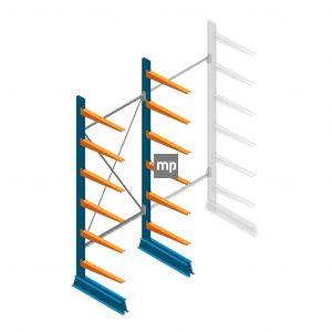 Draagarmstelling MP Enkelzijdig 2500x1000x600mm (hxbxd) 6 niveaus 150kg