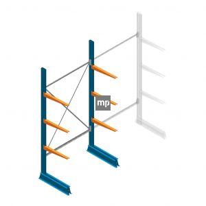 Beginsectie MP Draagarmstelling Enkelzijdig 2500x1250x600mm (hxbxd) 3 niveaus
