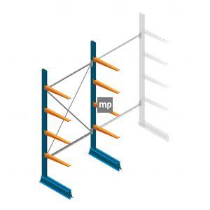 Draagarmstelling MP Enkelzijdig 2500x1250x600mm (hxbxd) 4 niveaus 150kg