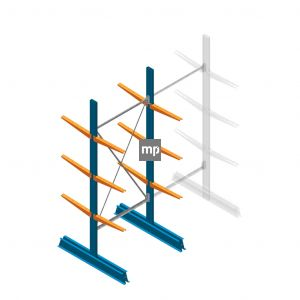 Draagarmstelling MP Dubbelzijdig 2500x1000x500mm (hxbxd) 3 niveaus 150kg