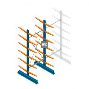 Draagarmstelling MP Dubbelzijdig 2500x1000x500mm (hxbxd) 6 niveaus 150kg