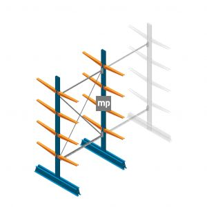 Draagarmstelling MP Dubbelzijdig 2500x1250x500mm (hxbxd) 4 niveaus 150kg